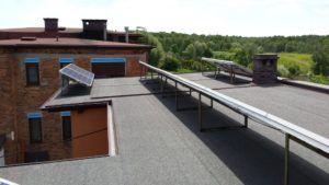 Knurów - dom jednorodzinny - dach pokryty papą