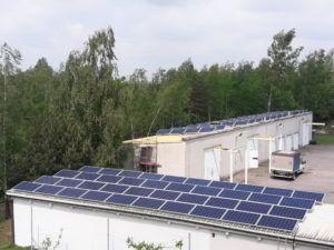 Instalacja o mocy 24,91kW na dwóch dachach pokrytych blachą