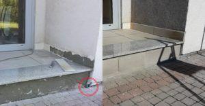 Przejście kabla do inwertera w budynku