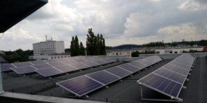 Instalacja doświadczalna o mocy 10,725kWp - 39 paneli polikrystalicznych